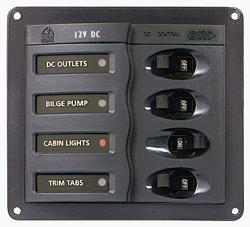 BEP 900-DC - 4 WAY CIRCUIT BREAKER PANEL