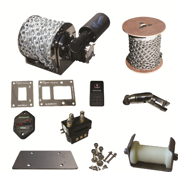 Viper Pro Series II 1000 Micro Electric Drum Anchor Winch bundle