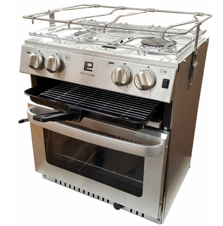 MaXtek Oven, with 2 burner & Grill with gimbal and pot holders