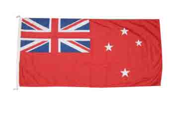 New Zealand courtesy flag red