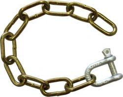 TRAILER SAFETY 8MM X 400MM CHAIN & SHACKLE