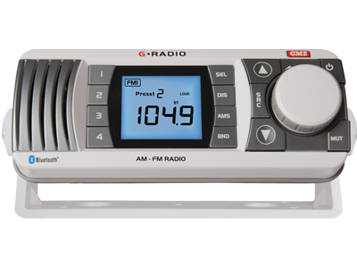 AM/FM radio with Bluetooth