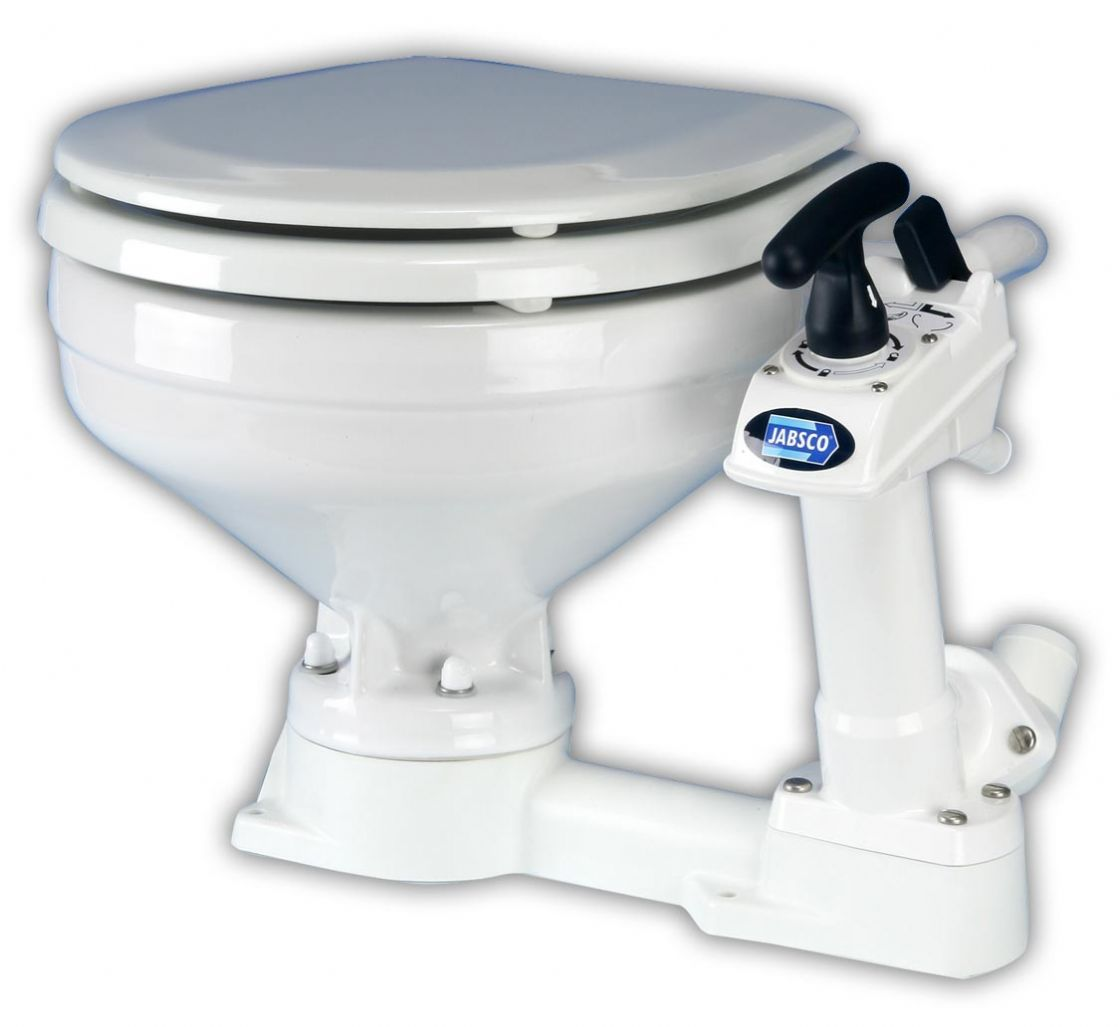 Jabsco Twist 'n' Lock compact manual toilet