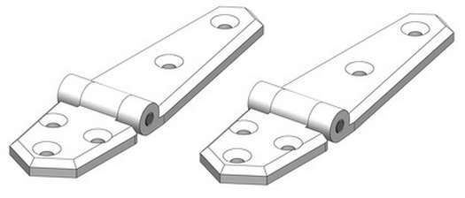 TruDesign Short/Long hinge (Pair)