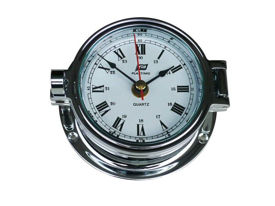 "Plastimo 4 1/2"" Clock Chrome"