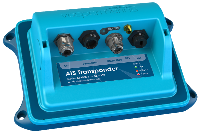 XB-8000 AIS transponder with built-in WiFi and NMEA 2000 Gateway