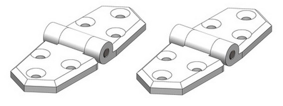 TruDesign Short/Short hinge (Pair)