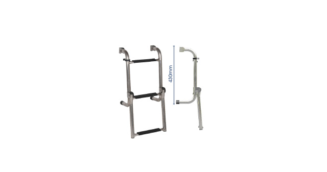 S/S LONG BASE LADDER - 3 step