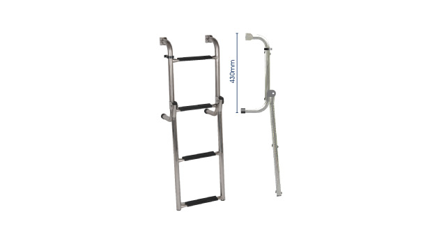 S/S LONG BASE LADDER - 4 step