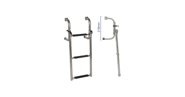 S/S SHORT BASE LADDER - 3 step