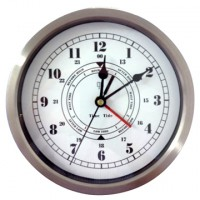 Time and tide clock. 20cm Stainless steel surround
