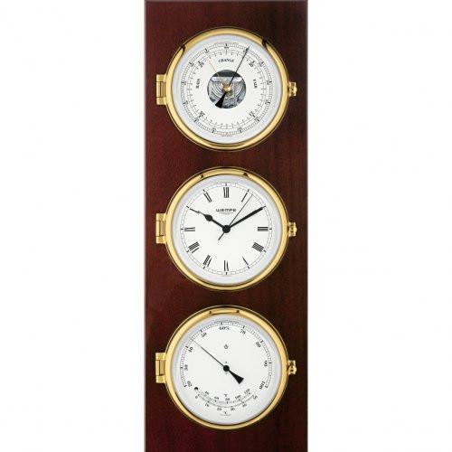 Wempe quartz clock, barometer, and thermometer/hygrometer